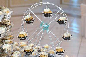 Wedding cupcake ferris wheel.